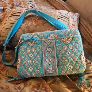 Vera Bradley tablet case; totally Turq exotic EUC